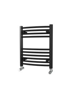 Trade Direct Towel Rail - 22mm, Black Curved, 600x500mm (Electric)