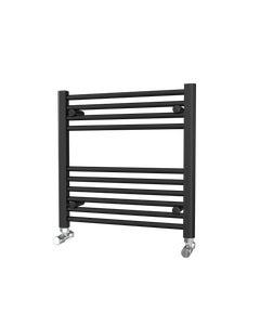Trade Direct Towel Rail - 22mm, Black Straight, 600x600mm