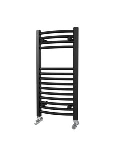 Trade Direct Towel Rail - 22mm, Black Curved, 800x400mm (Electric)