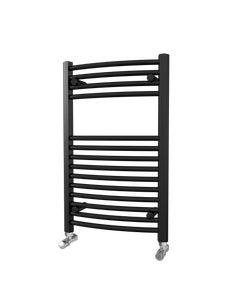 Trade Direct Towel Rail - 22mm, Black Curved, 800x500mm