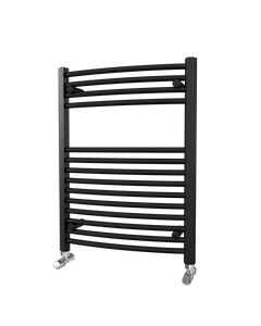 Trade Direct Towel Rail - 22mm, Black Curved, 800x600mm (Electric)