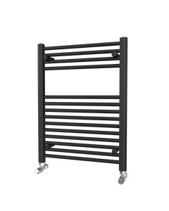 Trade Direct Towel Rail - 22mm, Black Straight, 800x600mm