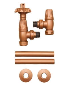 Paladin Thermostatic Valves, Canterbury, Copper Angled