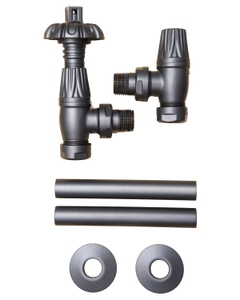 Paladin Thermostatic Valves, Canterbury, Old Pewter Angled