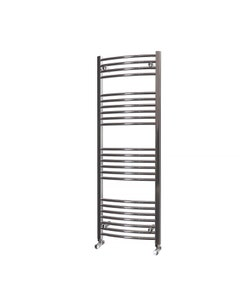 Trade Direct Towel Rail - 22mm, Chrome Curved, 1400x500mm (Electric)