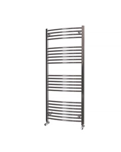 Trade Direct Towel Rail - 22mm, Chrome Curved, 1400x600mm (Electric)