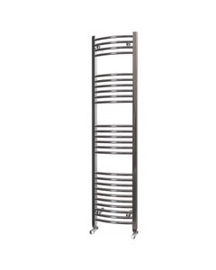 Trade Direct Towel Rail - 22mm, Chrome Curved, 1600x400mm