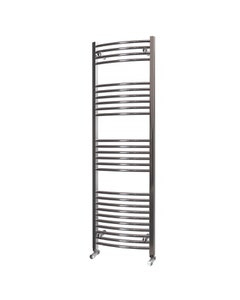 Trade Direct Towel Rail - 22mm, Chrome Curved, 1600x500mm (Electric)