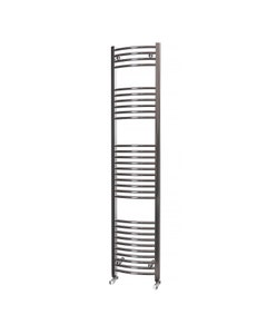 Trade Direct Towel Rail - 22mm, Chrome Curved, 1800x400mm