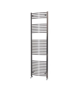 Trade Direct Towel Rail - 22mm, Chrome Curved, 1800x500mm (Electric)