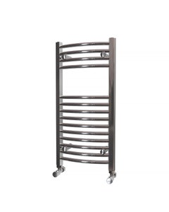 Trade Direct Towel Rail - 22mm, Chrome Curved, 800x400mm (Electric)