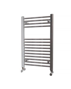 Trade Direct Towel Rail - 22mm, Chrome Straight, 800x500mm (Electric)