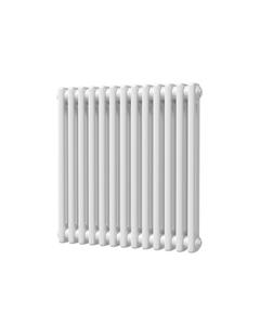 Trade Direct 2 Column Radiator, White, 600mm x 592mm