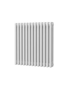 Trade Direct 3 Column Radiator, White, 600mm x 599mm