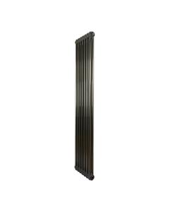 Nordic 2 Column Radiator, Raw Metal, 1800mm x 339mm