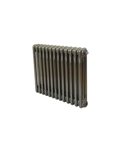 Nordic 3 Column Radiator, Raw Metal, 500mm x 609mm