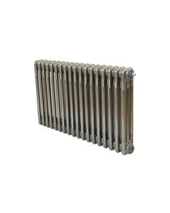 Nordic 3 Column Radiator, Raw Metal, 500mm x 834mm