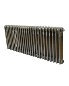 Nordic 3 Column Radiator, Raw Metal, 500mm x 1194mm