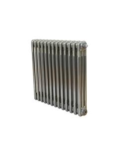 Nordic 3 Column Radiator, Raw Metal, 600mm x 609mm