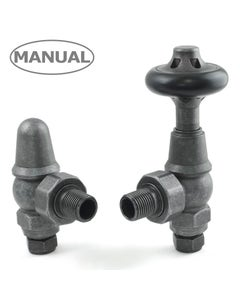 West Manual Valves, Commodore, Pewter Angled