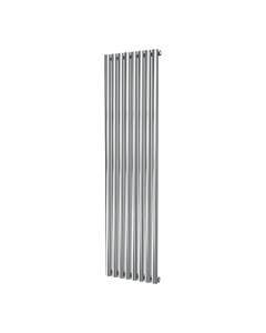 DQ Cove Stainless Steel Designer Radiator, Polished, 1800mm x 413mm