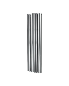 DQ Cove Stainless Steel Designer Radiator, Polished, 1800mm x 413mm - Double Panel