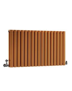 DQ Cove Designer Radiator, Copper Lacquer, 600mm x 413mm - Double Panel