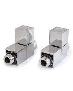 West Manual Valves, Cube, Chrome Straight