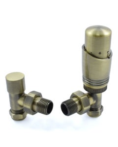 West Thermostatic Valves, Delta, Antique Brass Angled