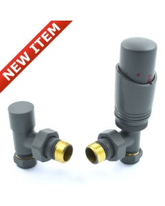 West Thermostatic Valves, Delta, Graphite Grey Angled - 10mm