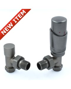 West Thermostatic Valves, Delta, Metallic Grey Angled - 8mm