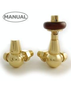 West Manual Valves, Eton, Polished Brass Corner