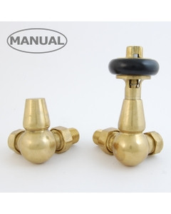 West Manual Valves, Eton, Un-Lacquered Brass Corner