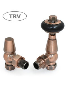 West Thermostatic Valves, Faringdon, Antique Copper Angled