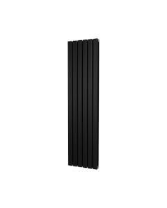 Trade Direct Nevo Designer Radiator, Black, 1600mm x 408mm - Double Panel