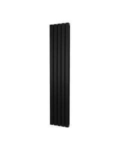 Trade Direct Nevo Designer Radiator, Black, 1800mm x 340mm - Double Panel