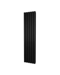 Trade Direct Nevo Designer Radiator, Black, 1800mm x 408mm - Double Panel