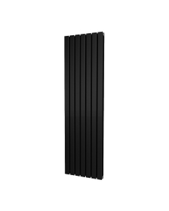 Trade Direct Nevo Designer Radiator, Black, 1800mm x 476mm - Double Panel