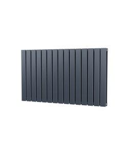 Trade Direct Nevo Designer Radiator, Anthracite, 600mm x 1020mm - Double Panel