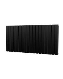 Trade Direct Nevo Designer Radiator, Black, 600mm x 1224mm - Double Panel