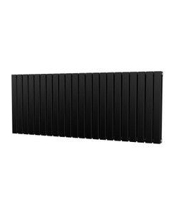 Trade Direct Nevo Designer Radiator, Black, 600mm x 1496mm - Double Panel