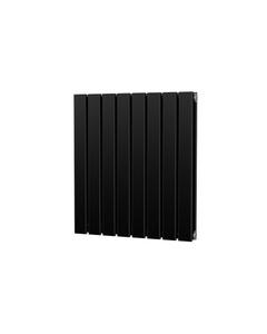 Trade Direct Nevo Designer Radiator, Black, 600mm x 544mm - Double Panel