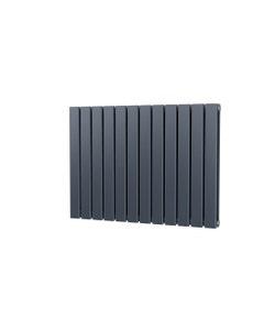 Trade Direct Nevo Designer Radiator, Anthracite, 600mm x 816mm - Double Panel