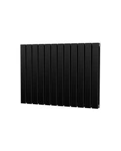 Trade Direct Nevo Designer Radiator, Black, 600mm x 816mm - Double Panel