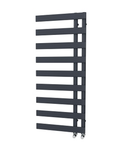 Trade Direct Nevo Offset Towel Rail, Anthracite, 1156x500mm (Electric)