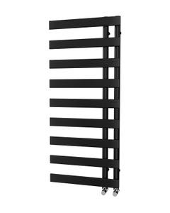 Trade Direct Nevo Offset Towel Rail, Black, 1156x500mm