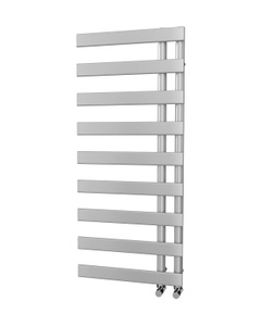 Trade Direct Nevo Offset Towel Rail, Silver, 1156x500mm (Electric)