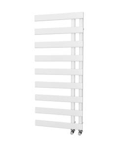 Trade Direct Nevo Offset Towel Rail, White, 1156x500mm