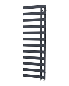 Trade Direct Nevo Offset Towel Rail, Anthracite, 1564x500mm