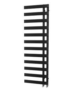 Trade Direct Nevo Offset Towel Rail, Black, 1564x500mm